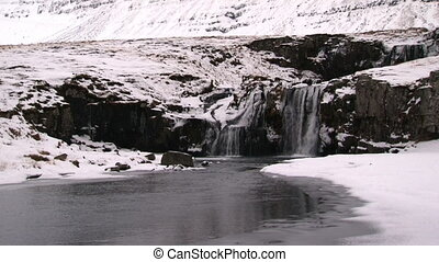 Waterfall in Wintertime