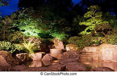 Waterfall  japanese garden