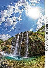 Waterfall Krcic fisheye
