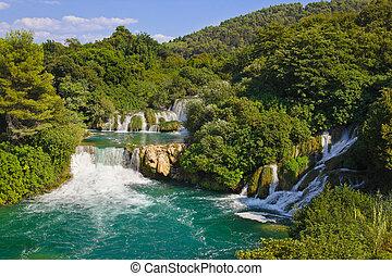 Waterfall KRKA in Croatia