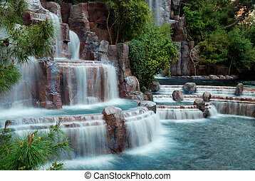 Waterfall mountain, Las Vegas - Las Vegas, Nevada - March 3,...