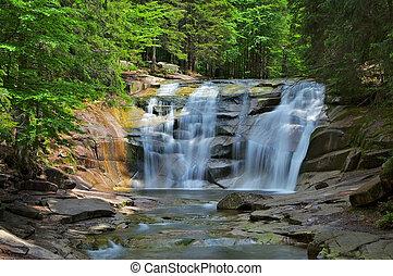 waterfall Mummelfall in the Giant Mountains, Czechia