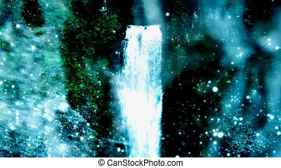 Waterfall Mystic Abstract