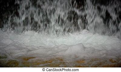 waterfall natural closeup