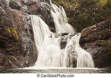 Waterfall near Nuwara Eliya in Sri Lanka.