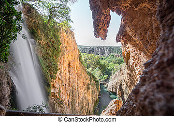"Waterfall of Horsetail at ""Monasterio de Piedra"" - Top of ..."