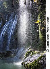 Waterfall of Light - Kursunlu waterfall lit by evening Sun...
