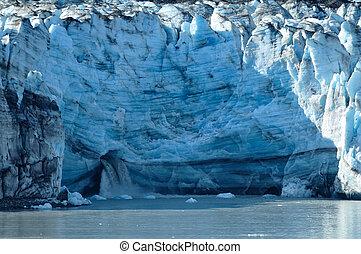 Waterfall of Tidewater Lambplugh Glacier