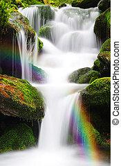 Waterfall on a mountain creek.