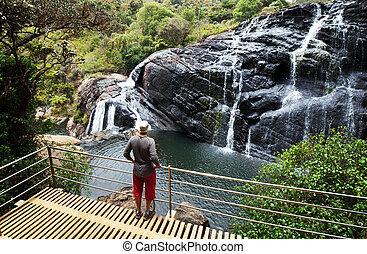 Waterfall on Sri Lanka, Horton Place