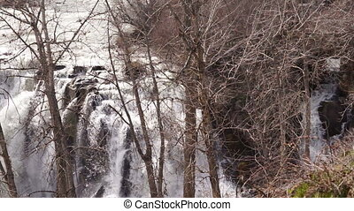 Waterfall on the White River in Oregon Territory