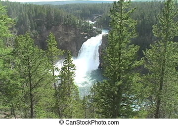 Yellowstone River - Waterfall on the Yellowstone River