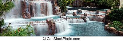Waterfall Panorama, Las Vegas.