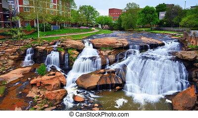 Waterfall Park in Greenville, South Carolina