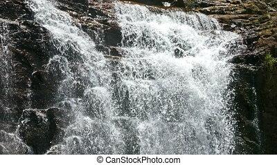 Waterfall Ramboda in Sri Lanka