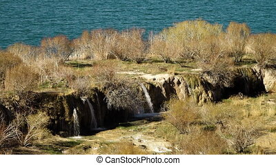 Waterfall ridge with lake basin in the background. - Band-e...