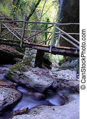 Waterfall River Orfento Valley - Majella - Abruzzo - Italy