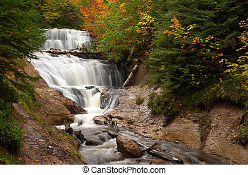 Waterfall - Sable Falls, Michigan