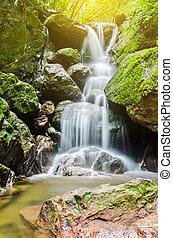 waterfall., san, ngorn