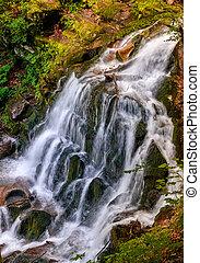 waterfall Shypot in Carpathian forest - beautiful waterfall...