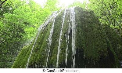 Waterfall Silver streams in Crimea.