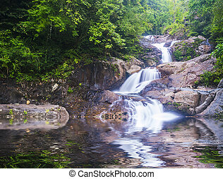waterfall - Deep forest waterfall at Kenyir lake, Malaysia