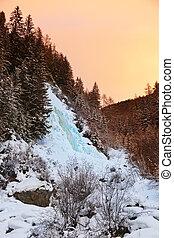 Waterfall Stuibenfall at Umhausen - Tirol Austria