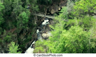 Waterfall Tilt shift Version - Sautee GA waterfall America...