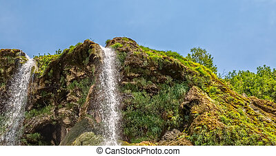 Waterfall top - Top of the waterfall Krcic flows into the...