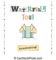 Waterfall tour banner