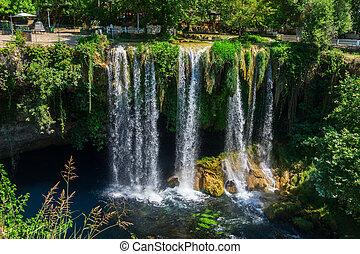 waterfall Upper Duden - View of the waterfall Upper Duden in...