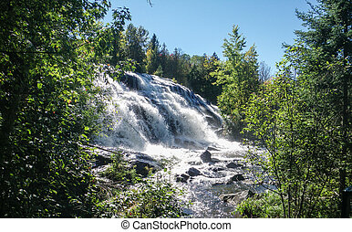 Waterfall with rushing water