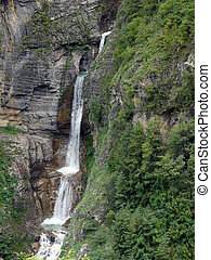 Waterfall with Small Ponds in the Himalayas