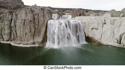 Looking at Shoshone falls one of the largest in idaho