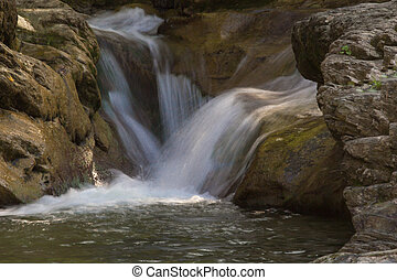 waterfalls and the Carpathians, Ukraine
