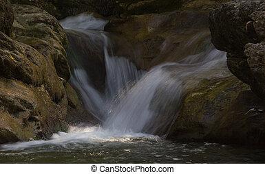 waterfalls and the Carpathians, Ukraine
