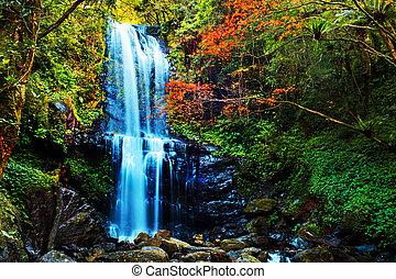 Waterfalls at fall, Taiwan