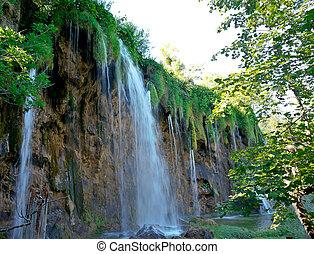 waterfalls  at Plitvice Lakes