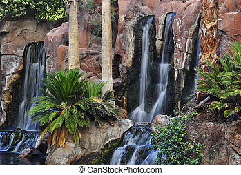 waterfalls in a park