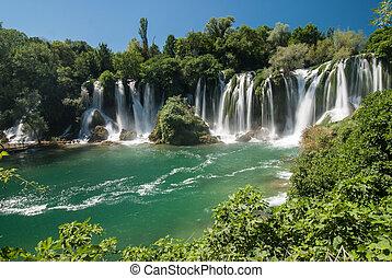 The Kravica waterfalls in Bosnia and Herzegovina