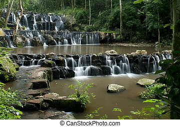 waterfalls in deep forest
