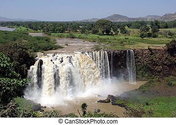 The Blue Nile waterfalls in Ethiopia, in Africa