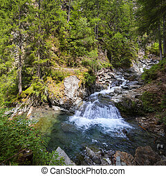 Waterfalls in french Alps