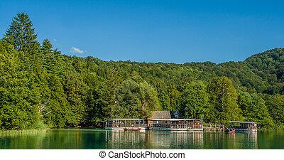 Waterfalls in National Park Plitvice Lakes