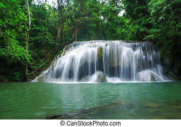 Waterfalls in national park.