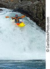 Waterfalls in Norway - Kayaking. Waterfalls in Norway. July...