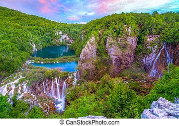 Waterfalls in Plitvice