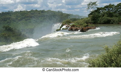 Waterfalls in the Iguazu National Park seen from above