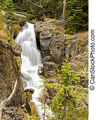 Waterfalls in the Mountains