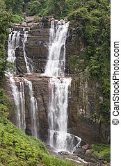 Waterfalls in tropical forest